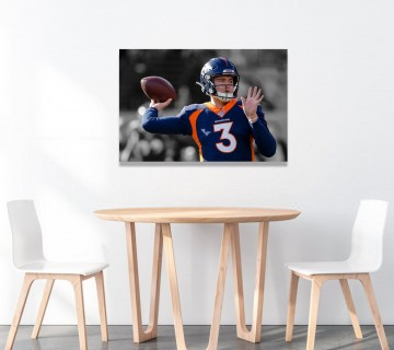 Drew Lock Poster Canvas Framed Wall Art, Canvas Frame / Acrylic Print