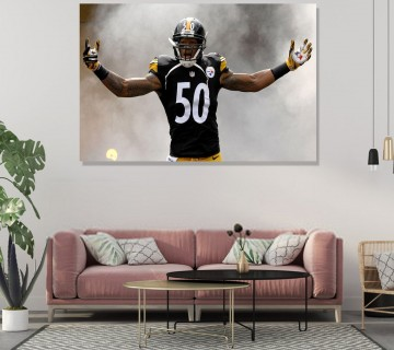 Ryan Shazier Motivational Canvas Frame, Canvas wall art / Acrylic Print