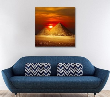 Egyptian Pyramids Under The Dusk Pictures Paintings on Canvas Wall Art Pyramid Canvas