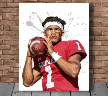 Kyler Murray Oklahoma Sooners Stretched Canvas frame / Acrylic Print