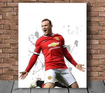Wayne Rooney Canvas Wall Art , Sports Canvas Frame / Acrylic Print