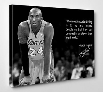 Kobe Bryant motivational quote Canvas Wall Art, Sports Canvas Print, Man Cave ready to hang