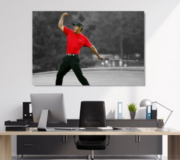 Tiger Woods powerful shot world Champion Canvas Frame, canvas wall art