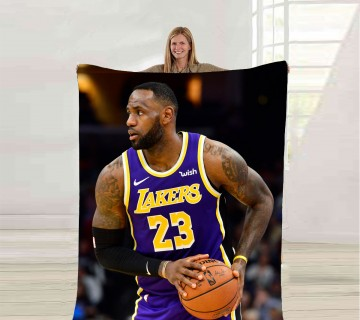 Lebron James Fleece Blanket, Sports Player Blanket, ultra soft fleece blanket, Throw Blanket