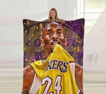 Kobe Bryant Fleece Blanket, Sports Player Blanket, ultra soft fleece blanket, Throw Blanket