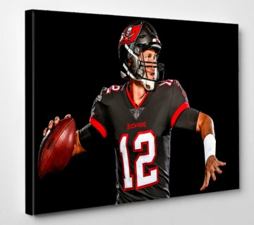 Tom Brady Canvas Wall Art Framed, Sports Canvas Prints, American Football Canvas Art ready to hang