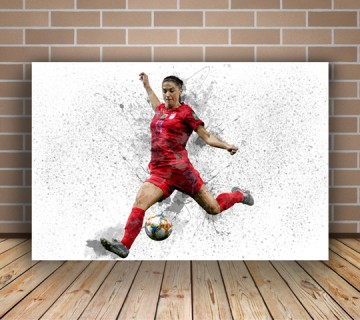 Alex Morgan American soccer player Splash Effect