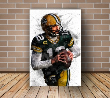 Aaron Rodgers American Football Spash Effect